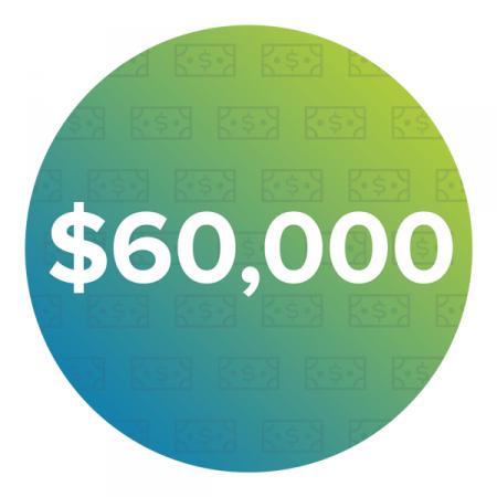 $60,000 Average starting salary