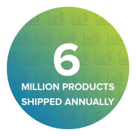 We currently ship approximately 6 million products per month worldwide